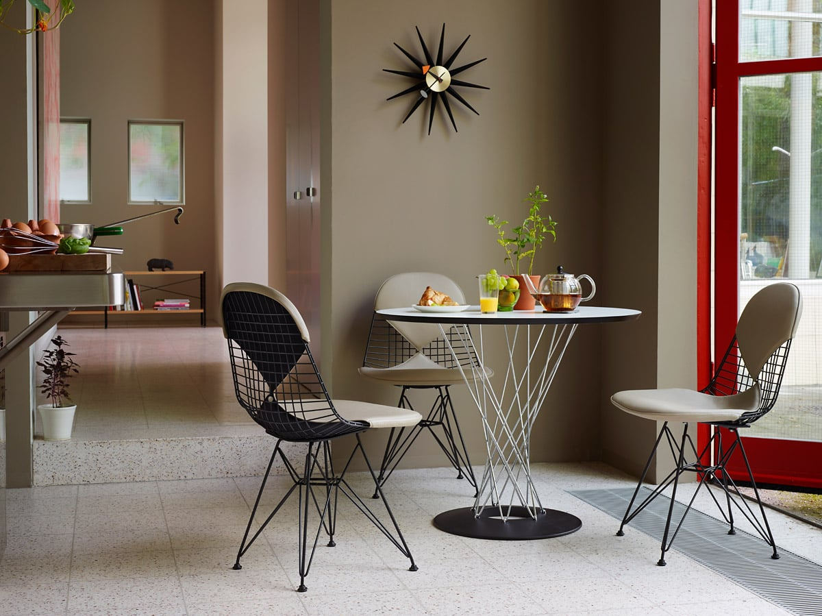 vitra dining kampagne table wire chair